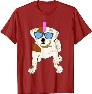 Funny Cute Dog T Shirt For Men & Women   Punk Rock Puppy