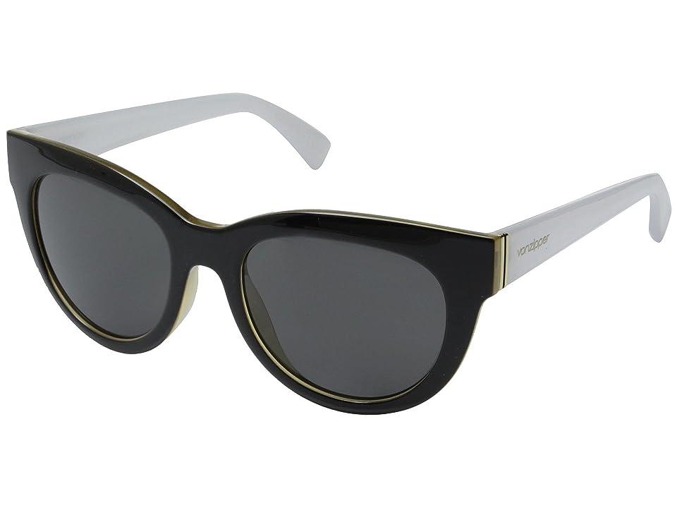 VonZipper Queenie (Black Buff White/Grey) Sport Sunglasses