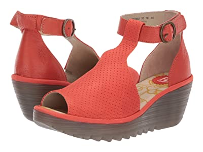 FLY LONDON YALL962FLY (Poppy Orange Cupido/Mousse) Women