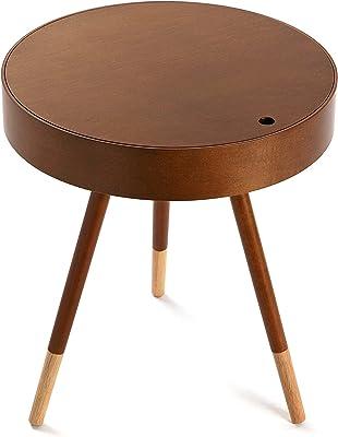 Versa Gazon Table auxiliaire, Bois, Marron, 46x 46x 47cm