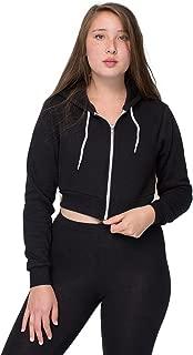 American Apparel Women Cropped Flex Fleece Zip Hoodie