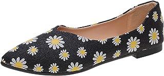 DAIFINEY Dames mocassin slipper loafers bloem gedrukt/effen comfort schoenen slipschoen slip on modieuze vrijetijdsschoen
