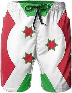 Bernice Winifred Flag of Burundi Hombres Bañadores de Secado rápido Pantalones Cortos de Playa Pantalones