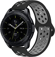 KADES Galaxy Watch 42mm Band, Galaxy Watch Active Band, 20mm Replacement Strap with Quick Release Pin Compatible for Garmin VivoActive 3, Ticwatch E, Amazfit Bip Smart Watch (Black Gray)