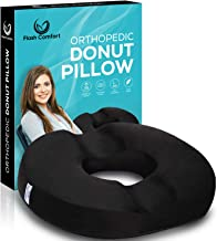 Donut Tailbone and Coccyx Pillow | Medical Firm Sitting Seat Cushion | Relief from Hemorrhoids, Prostate, Back Pain, Post Natal Orthopedic Surgery, Pregnancy and More | Luxury Memory Foam
