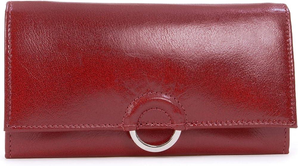 Catwalk collection handbags portafoglio porta carte di credito per donna in pelle Rosso - Rfid