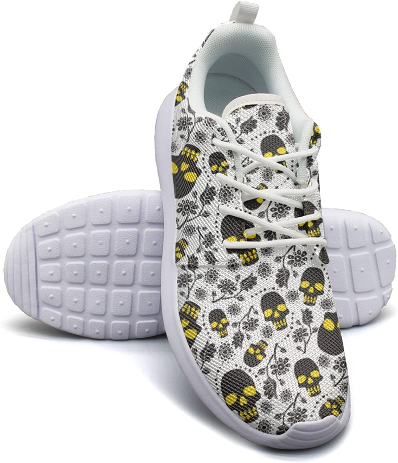 Skull With Flowers Long Distance Running shoes Women size 6