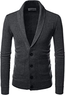 TheLees Shawl Collar Basic Knit Casual Cardigan Sweaters