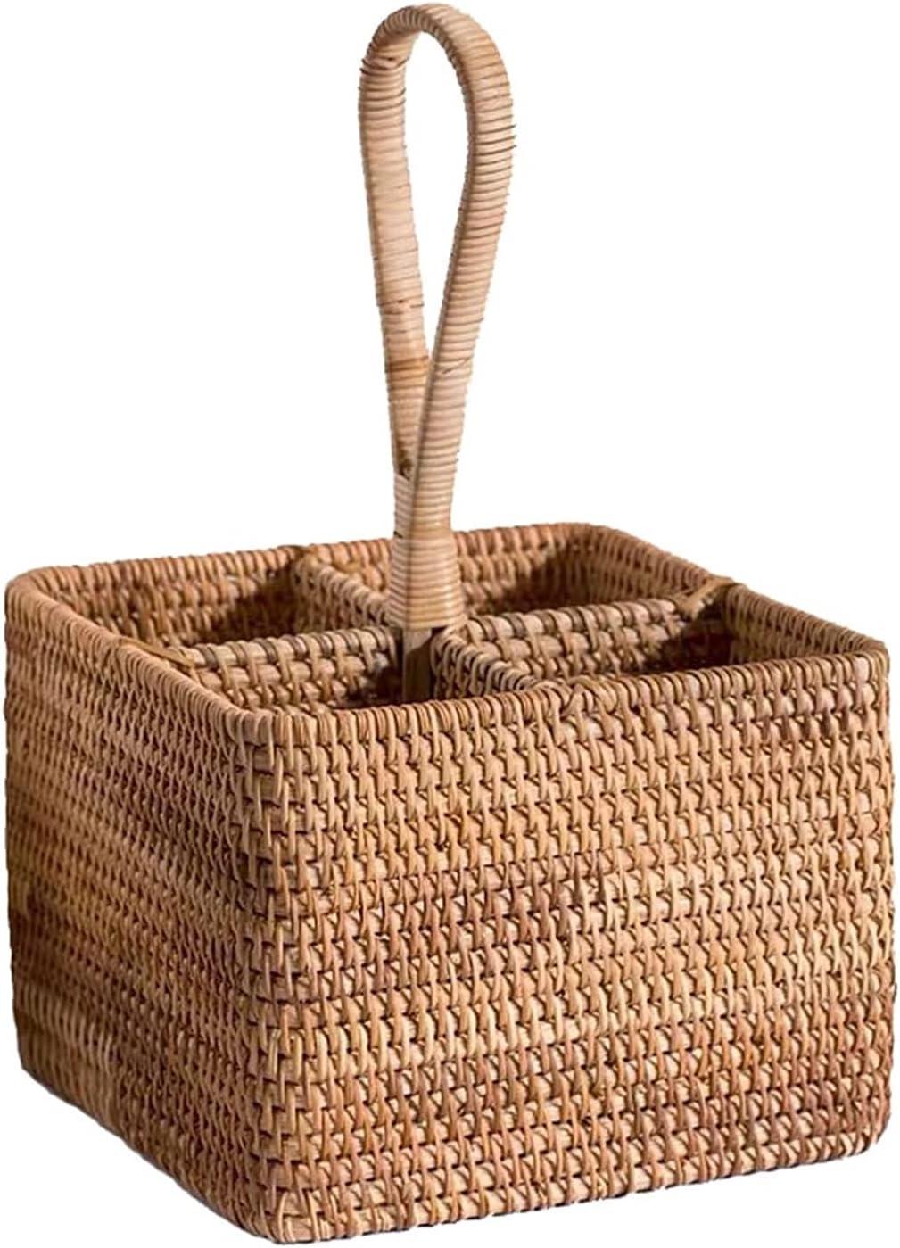 Low price Rattan Storage Baskets Handmade Desktop t Wholesale Used