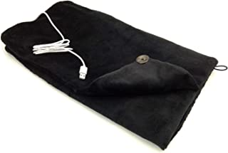S'beauty USB Electric Heating Blanket Wrap 150°F-5V/2A for Office Study Sitting Room Library Coffee Shop Plane and More (Black)