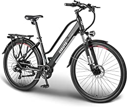 """ESKUTE Elektrische Fiets Wayfarer 28"""" Urban Ebike Trekking/Citybike met Uitneembare Lithium Batterij 36V 10Ah, 250W Achter..."""