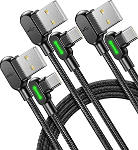USB C Cable, 【3 Pack 3.1A】Mcdodo Quick QC 3.0 Fast Charging USB Type C Cable, (1.6+4+10ft) Phone Charger Cord for Samsung Galaxy S20 S10 S9 S8 Plus Note 10 LG Google Pixel OnePlus Huawei etc