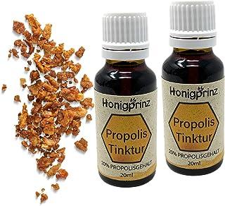Propolis Tinktur 2 x 20ml Vorteilspack mit 20% Propolis, Propolis Extrakt Tinktur von der Familien-Imkerei Honigprinz 2 x 20ml