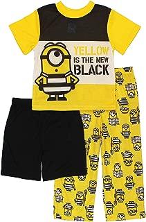 3 Minions Boys 3 Piece Shorts Pajamas Set (Little Kid/Big Kid)