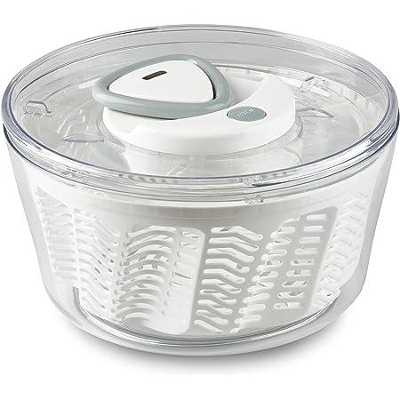 Zyliss E940017 Easy 2 Salad Spinner-Large White Ustensiles de Cuisine, Blanc