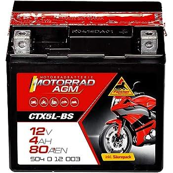 Panther Motorradbatterie 12V 3Ah 50311 YB2,5L-C-2