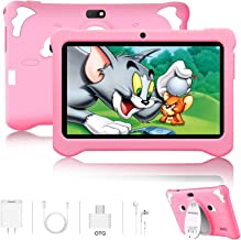 Kids Tablet, Android 9.0 Tablets 7 inch HD IPS Eye Protaction Display, 3GB RAM 32GB ROM, Quad Core Processor, Dual Camera, WiFi, Parental Control, Kid-Proof, Pre-Installed Educational APP (Pink)