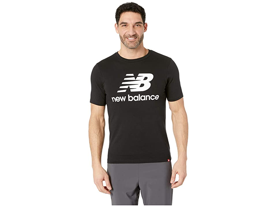 New Balance Essentials Stacked Logo Tee (Black 2) Men