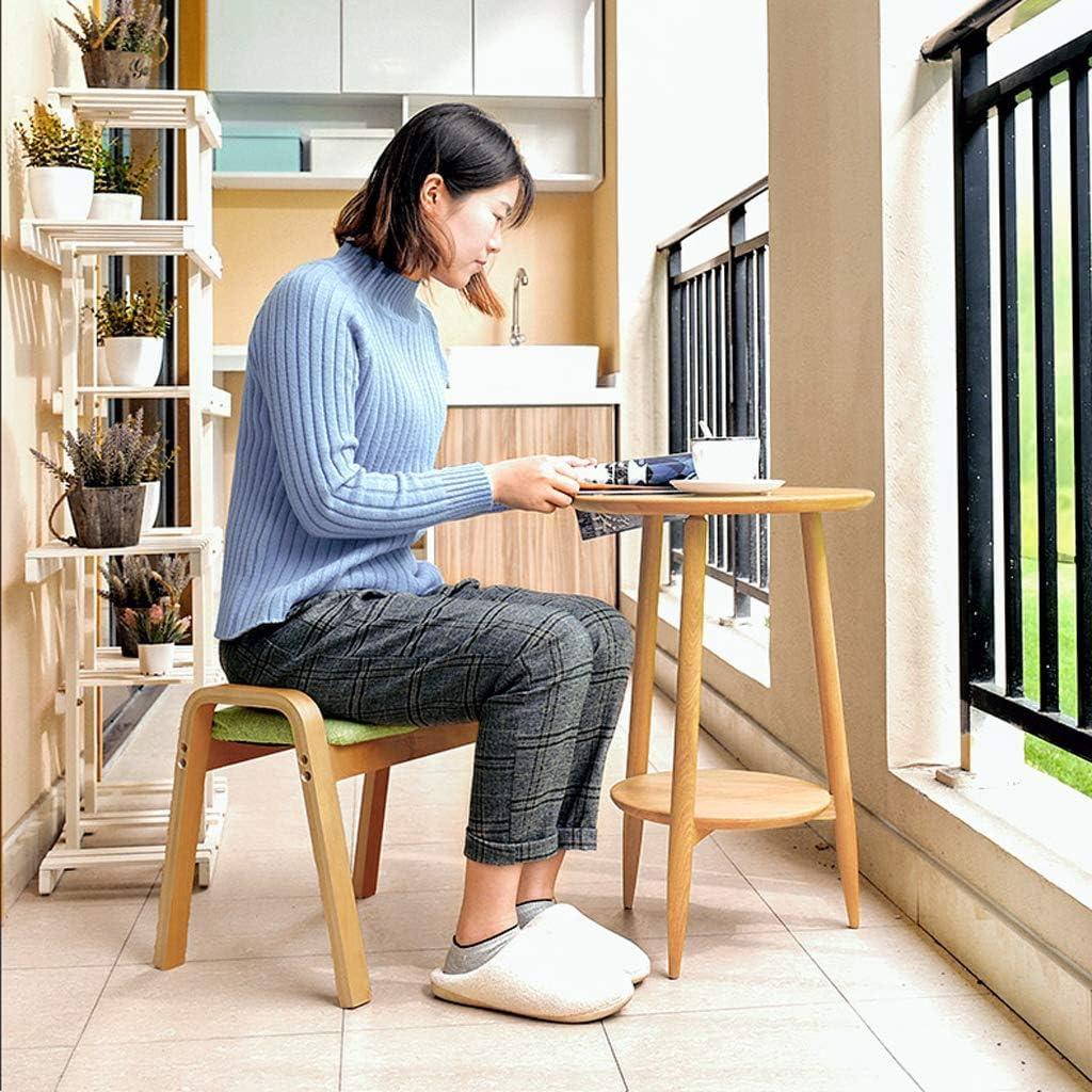 Z-Y Tabouret Accueil Chaussures Chaussures Mode Créatif Salon Simple Canapé Repose-Pieds en Bois Massif Carré Adulte Petit B