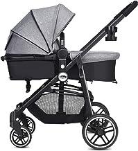 Best INFANS 2 in 1 Baby Stroller, High Landscape Infant Stroller & Reversible Bassinet Pram, Foldable Pushchair with Adjustable Canopy, Cup Holder, Storage Basket, Suspension Wheels (Grey) Review