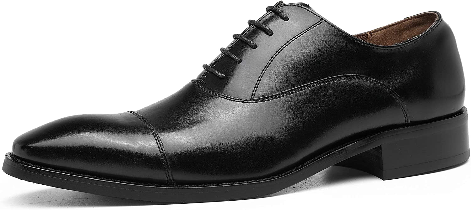DOLCARA Men's Sale item Dress Shoes OFFer Oxford lace Leather fo up Formal