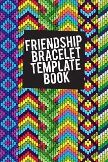 Friendship Bracelet Template Book: Blank patterns for 8 string bracelets