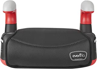 Evenflo Big Kid AMP No Back Booster Car Seat, Black Chevron