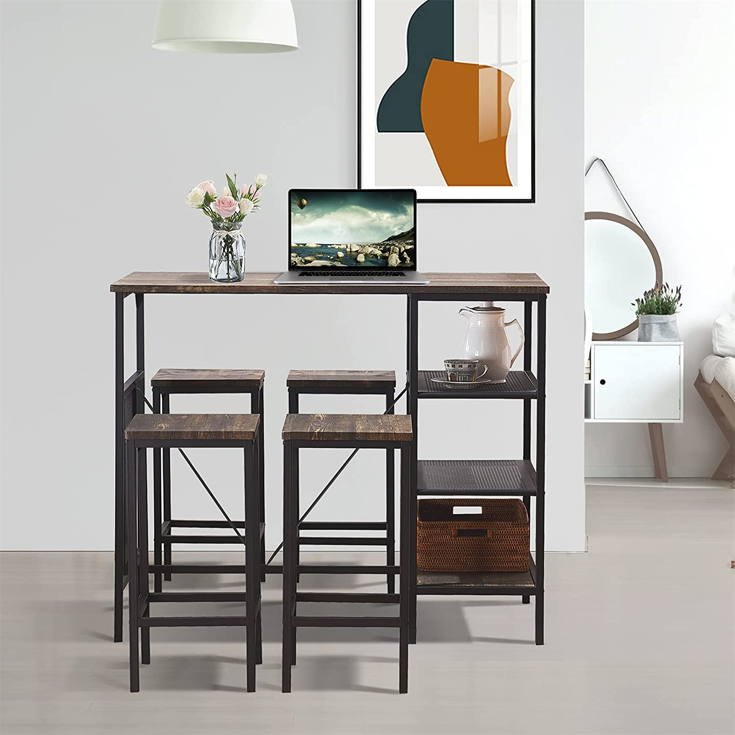 Counter Height Dining Table 在庫あり Set Style bar with 大決算セール Industrial
