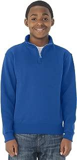 Jerzees youth 8 oz 50/50 NuBlend Quarter-Zip Cadet Collar Sweatshirt (995Y)