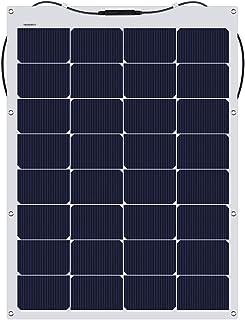 suaoki ソーラーチャージャー 100W 単結晶 ソーラーパネル 高発電効率 MC4コネクタ 直列/並列接続 柔軟 極薄 軽量 携帯便利 太陽光発電 住宅 キャンピングカー 船舶 テント アウトドア 防災などに活躍 IP65防水 12ヶ月保証