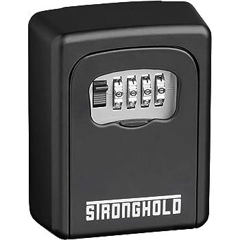 Stronghold Caja Fuerte para Llaves de Pared - Caja de Seguridad para Llaves con código numérico 4 dígitos Ajustable - Armarios de Llaves para Montaje - Caja para Llaves Resistente, para Exterior: