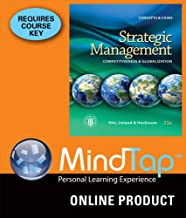 MindTap Management for Hitt/Ireland/Hoskisson's Strategic Management: Concepts and Cases: Competitiveness and Globalization, 11th Edition