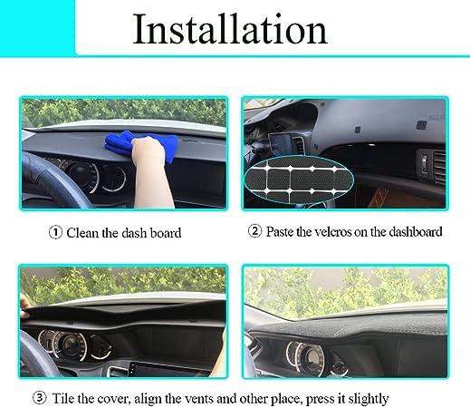 Cadillac Escalade 2007-2014 Carpet Dash Board Cover Mat Cinder