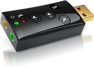 CSL - Tarjeta de Sonido Externa 7.1 USB - Sonido Surround 3D dinámico - Incl. Botones de función