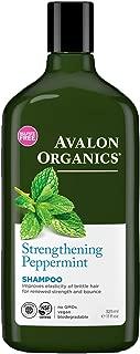 Avalon Organics Strengthening Peppermint Shampoo, 11 oz. (Pack of 3)