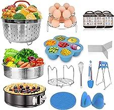 Instant Pot Accessories Set Fits Instant pot 6,8 Qt - 15pcs Pressure Cooker Accessories, Springform Pan, Egg Steamer Rack,...