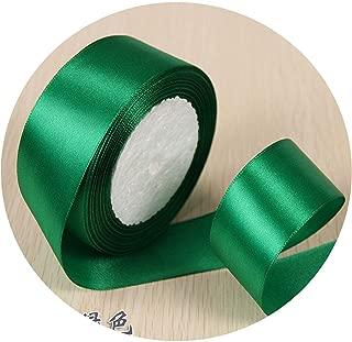 6mm 1cm 1.5cm 2cm 2.5cm 4cm 5cm Satin Ribbons DIY Artificial Silk Roses Crafts Supplies Sewing Accessories Scrapbooking Material,Green,2.5cm