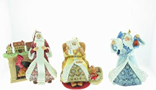 Louis Comfort Tiffany Holiday Insparations Porcelain Santa Ornament Collection Second Issue Set of 3 Bradford Editions.