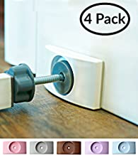 Wall Nanny - Baby Gate Wall Protector (Made in USA) Protect Walls & Doorways from Pet & Dog Gates - for Child Pressure Mounted Stair Safety Gate - No Safety Hazard on Bottom Spindles - Saver - 4 Pack