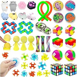 39 Pack Fidget Toys Bundle for Kids and Adults, Sensory Toys Set for Stress Relief and Anti-Anxiety, Sensory Fidget Hand T...