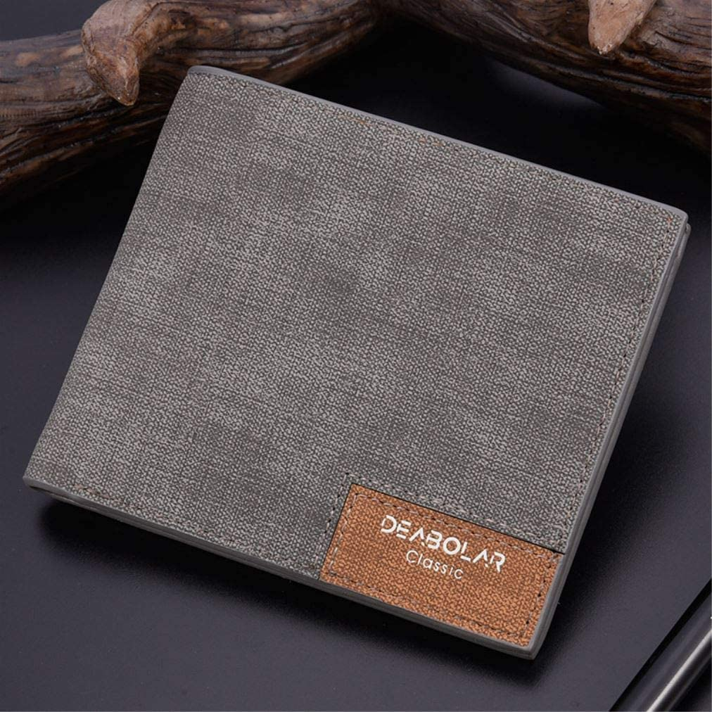 Personalized photo Wallet Custom Men's Wallet Boyfriend Gift Husband Gift Valentine's Day Anniversary Gift fathers day gift (Grey, Large)