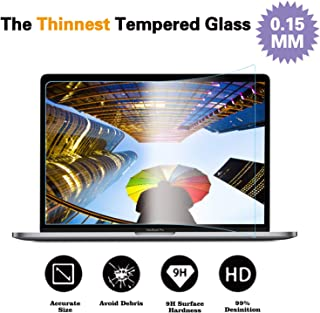 Glass Screen Protector Compatible MacBook Pro 15 Inch Model A1707,9H Hardness with Ultra Thin 0.15mm Thickness