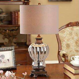 GZEALL Retro Europäische Kristall Tischlampe Wohnzimmer Nachttischlampen Nachttischlampen Nachttischlampen Individuelles Hotel Glasdekoration Tischlampe Schalttaste Schalter E27 Lichtquelle B07GKRGD3L  Einfaches Leben 9d5526