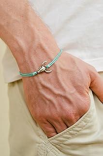 Bull head bracelet, pulsera de los hombres, silver bull charm, turquoise bracelet for men, gift for him, silver ox, cowboy bracelet, mens jewelry