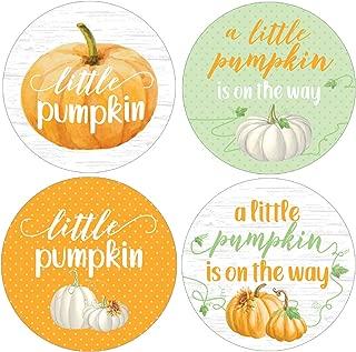 Little Pumpkin Baby Shower Favor Stickers - 1.75 in - 40 Labels