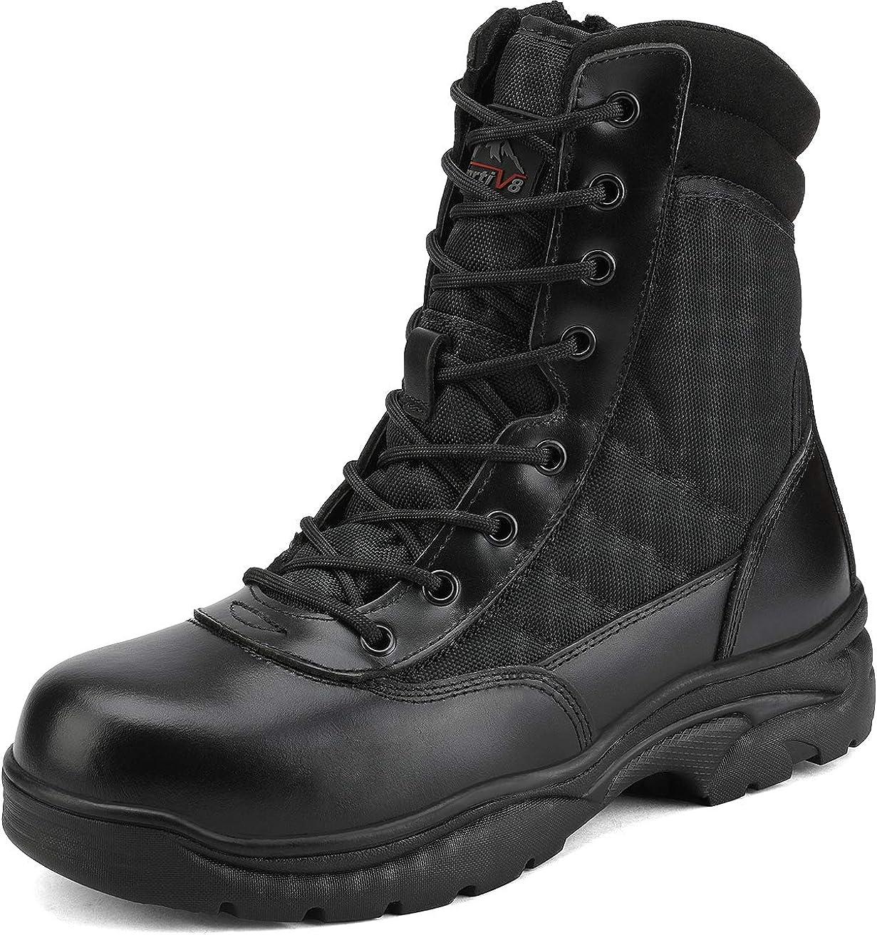 NORTIV 8 Men's Safety Steel Industrial Work Large discharge sale Indefinitely Anti-Slip Boots Toe