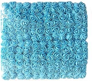 Artfen Mini Fake Rose Flower Heads 144pcs Mini Artificial Roses DIY Wedding Flowers Accessories Make Bridal Hair Clips Headbands Dress Blue