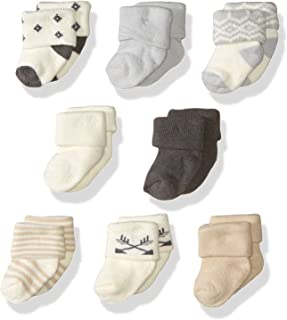 Hudson Baby Unisex Cotton Rich Newborn and Terry Socks