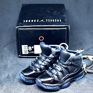 Pair Air Jordan XI 11 Retro High Gamma Blue Sneakers Shoes 3D Keychain 1:6 Figure + Shoe Box