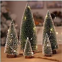 QXM 5 grootte kerstboom kerstversiering benodigdheden kleine dennenboom geplaatst in het bureaublad doe-het-zelf decoratie
